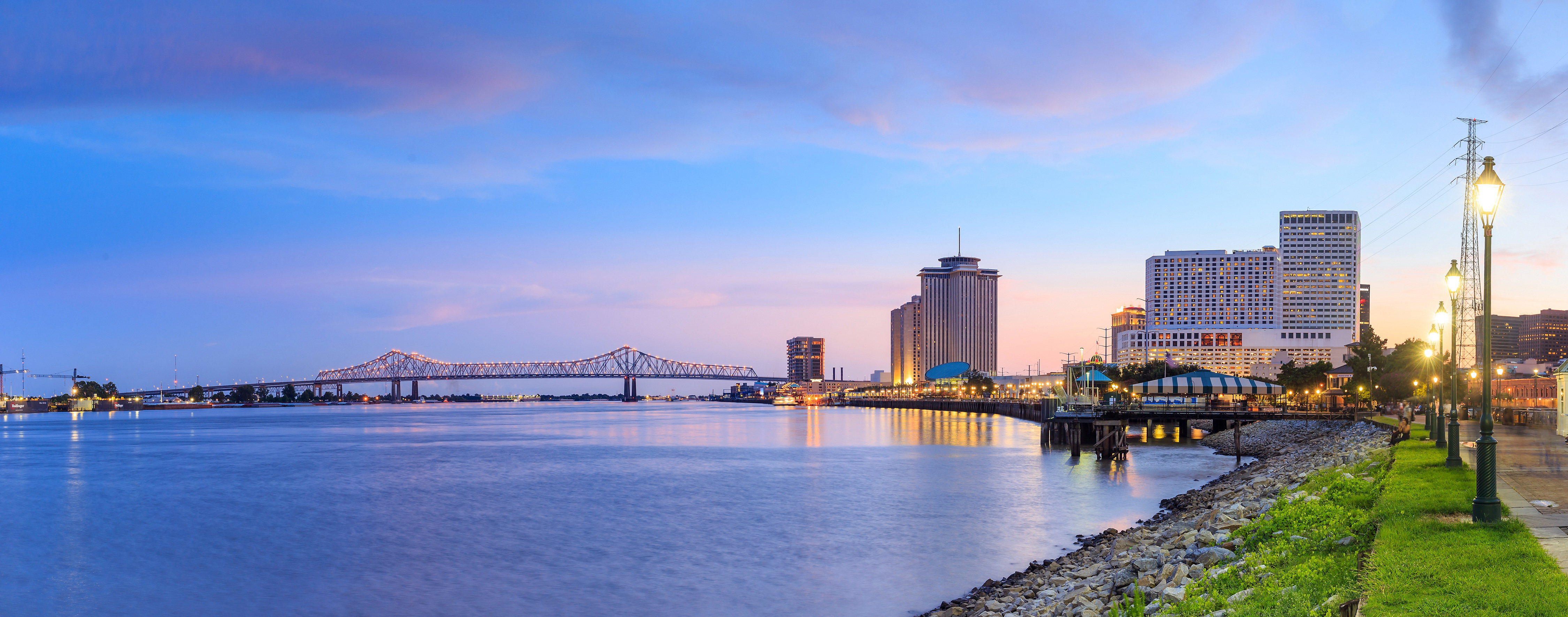 waterfront of New Orleans