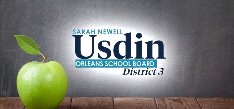 Sarah Newell Usdin | Orleans School Board District 3